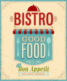 Vintage Bistro Poster. — Stock Vector