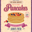Vintage Pancakes Poster. Vector illustration. — Vettoriale Stock #30118185