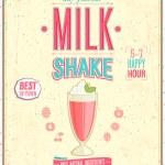 Vintage MilkShake Poster. — Stock Vector #30118321