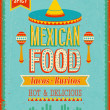 Stock Vector: Vintage MexicFood Poster.