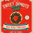 Stockvektor : Vintage Donuts Poster. Vector illustration.