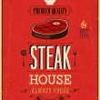 Vintage Steak House Poster. Vector illustration. — Stock Vector #30119217
