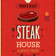 Vintage Steak House Poster. Vector illustration. — Stock Vector