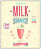 Vintage MilkShake Poster. — Stock Vector
