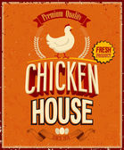 Vintage Chicken House Poster. . — Stock Vector