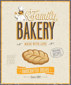 Vintage Bakery Poster. Vector illustration. — Stock Vector