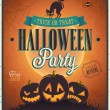 Happy Halloween Poster. — Vector de stock  #31535649