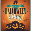 cartel de halloween feliz — Vector de stock  #31535649