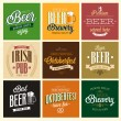 Vintage Beer set. — Stock Vector