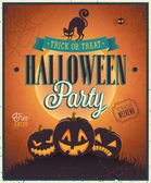 Happy Halloween Poster. — Vettoriale Stock