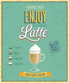 Vintage Latte Poster. — Stock Vector