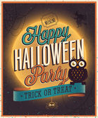 Cartel de halloween feliz. — Vector de stock