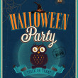 Stok Vektör: Halloween Party Poster.