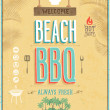 Vintage Beach BBQ poster. Vector background. — Stock Vector #31563823