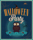 Halloween party plakat. — Wektor stockowy
