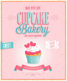 Vintage Cupcake Poster. — Stock Vector