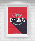 Vintage Christmas Poster. — Stock Vector