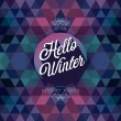 """Hello winter"" Poster. — Stock Vector"