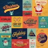 Christmas set — Stock Vector