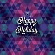 Happy Holiday — Imagen vectorial