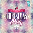 Christmas Party Poster. — Stock Vector