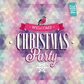 """Christmas Party"" Poster. — Stock Vector"