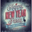 New Year Party Poster. — Stock Vector #36923929