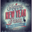 New Year Party Poster. — Stock Vector