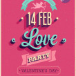 Stock Vector: Valentines day Poster.