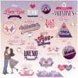 Valentines day set — Stock Vector #38925069