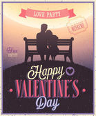 Valentines day Poster. — Stock Vector