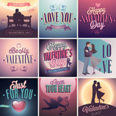 Valentines day set — Stockvector