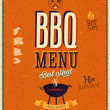 Vintage BBQ poster. — Stock Vector