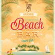 Vintage Beach Bar poster. — Stock Vector