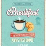 Vintage Breakfast Poster. — Stock Vector #41346875