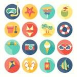 Beach icons set. — Stock Vector