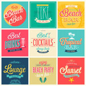 Beach Bar set — Stock Vector