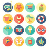 Beach icons set. — Stock Vector