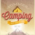 Summer Camping poster. — Vector de stock