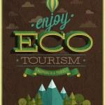 Eco Travel poster. — Vector de stock
