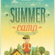 Summer camp poster. — Stock Vector #47660871