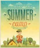 Summer camp poster. — Stock Vector