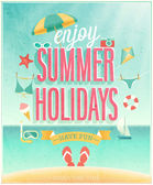 Summer Holidays poster. — Stock Vector