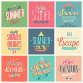 Summer set — Stock Vector