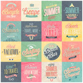 Summer set - labels and emblems. — Stock Vector