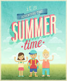Summer Adventure poster. — Stock Vector