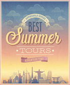Summer tours poster. — Stock Vector