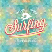 Cartaz de surf. — Vetor de Stock