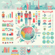 Travel Infographic set with charts and other elements. — Stock Vector #51535735