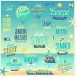 Summer and Travel set - labels and emblems. — Stock Vector #51535951